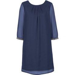 Sukienki hiszpanki: Sukienka szyfonowa bonprix kobaltowy