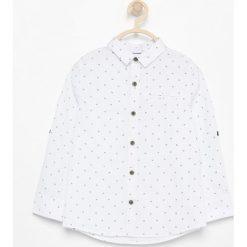Odzież chłopięca: Bawełniana koszula z nadrukiem – Biały