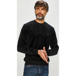 Emporio Armani - Bluza. Czarne bluzy męskie rozpinane Emporio Armani, l, z bawełny, bez kaptura. Za 419,90 zł.