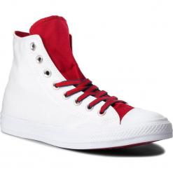 Trampki CONVERSE - Ctas Hi 160466C White/Gym Red/Navy. Białe tenisówki męskie Converse, z gumy. W wyprzedaży za 219,00 zł.