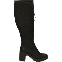 Kozaki ocieplane - 576N NAB NERO. Czarne buty zimowe damskie Venezia, z nubiku. Za 299,00 zł.