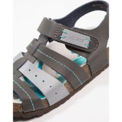 Kickers MAGINUEVO Sandały gris fonce. Niebieskie sandały męskie skórzane marki Kickers, na sznurówki. Za 239,00 zł.