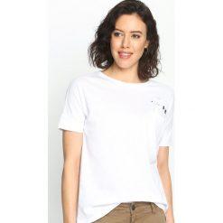 T-shirty damskie: Biały T-shirt Pretty Funny