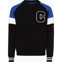 Calvin Klein - Męska bluza nierozpinana, czarny. Pomarańczowe bluzy męskie z nadrukiem marki Calvin Klein, l, z bawełny, z okrągłym kołnierzem. Za 349,95 zł.