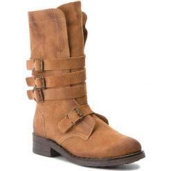 Kozaki MACIEJKA - 03308-29/00-4 Rudy/Baranek. Brązowe buty zimowe damskie marki Kazar, ze skóry, przed kolano, na wysokim obcasie. Za 349,00 zł.