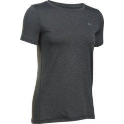 Bluzki sportowe damskie: Under Armour Koszulka Termoaktywna Z Krótkim Ręakwem Hg Armour Ss Carbon Heather Metallic Silver L