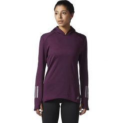 Bluzy damskie: Adidas Bluza damska RS CLima Hoodie fioletowa r. L (BS2906)