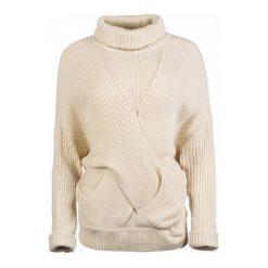 Pepe Jeans Sweter Damski Louise L Kremowy. Białe swetry klasyczne damskie marki Pepe Jeans, l, z jeansu. W wyprzedaży za 236,00 zł.