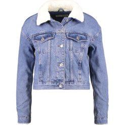 Bomberki damskie: Topshop TILDA BORG  Kurtka jeansowa middenim