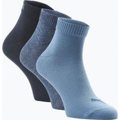 Puma - Skarpety męskie pakowane po 3 szt., niebieski. Niebieskie skarpetki męskie marki Puma, z dżerseju. Za 39,95 zł.