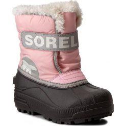 Kozaki dziewczęce: Śniegowce SOREL – Childrens Snow Commander NC1877 Cupid/Dove 651