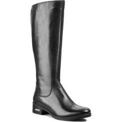 Kozaki SIMEN - 8453 Sandro 04. Czarne buty zimowe damskie marki Kazar, ze skóry, na wysokim obcasie. W wyprzedaży za 329,00 zł.