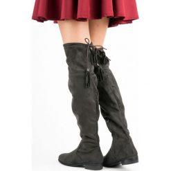 Buty zimowe damskie: Muszkieterki z frędzlami PARIS