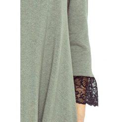 Isabel - sukienka trapezowa khaki. Brązowe sukienki hiszpanki Bergamo, na spotkanie biznesowe, uniwersalny, w koronkowe wzory, z bawełny, wizytowe, trapezowe. Za 194,99 zł.