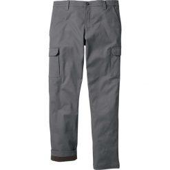 Spodnie bojówki ocieplane Regular Fit Straight bonprix dymny szary. Szare bojówki męskie marki bonprix. Za 159,99 zł.