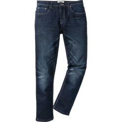 Dżinsy dresowe Regular Fit Straight bonprix ciemnoniebieski. Czarne jeansy męskie regular marki bonprix. Za 109,99 zł.
