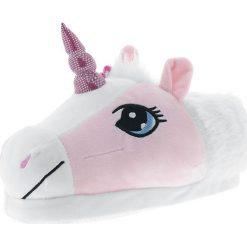 Kapcie damskie: Unicorn Kapcie biały/różowy