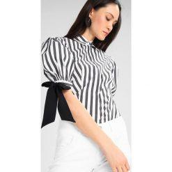 Koszule wiązane damskie: Karen Millen STRIPED BALLOON SLEEVE Koszula black/white