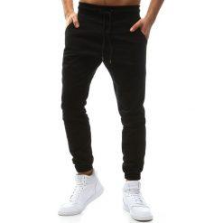 Joggery męskie: Spodnie męskie joggery czarne (ux1136)