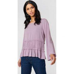 Bluzki asymetryczne: Rut&Circle Bluzka odcinana w talii Venda - Purple