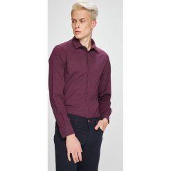 Trussardi Jeans - Koszula. Brązowe koszule męskie jeansowe marki Trussardi Jeans, z klasycznym kołnierzykiem, z długim rękawem. W wyprzedaży za 299,90 zł.