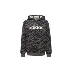 Bluzy Dziecko adidas  Bluza z kapturem Linear. Szare bluzy chłopięce rozpinane marki Adidas, z kapturem. Za 179,00 zł.