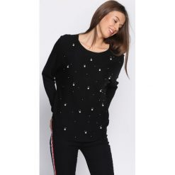 Czarny Sweter Mental picture. Czarne swetry klasyczne damskie marki Born2be, l, z okrągłym kołnierzem. Za 59,99 zł.
