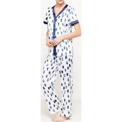 Bielizna damska: Wzorzysta piżama dwuczęściowa, krótki rękawek