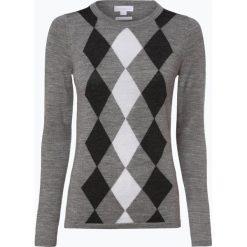 Brookshire - Damski sweter z wełny merino, szary. Czarne swetry klasyczne damskie marki brookshire, m, w paski, z dżerseju. Za 179,95 zł.