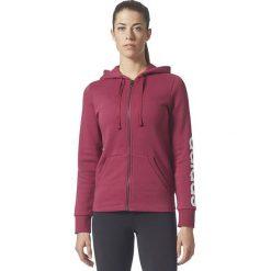 Bluzy sportowe damskie: Adidas Bluza damska ESS LIN FZH FL czerwona r. XS (BR2448)