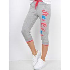 Spodnie dresowe damskie: Dresowe bermudy z nadrukiem star club