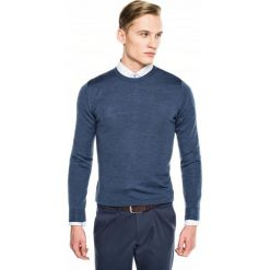Sweter versa półgolf niebieski. Szare swetry klasyczne męskie marki Recman, m, z długim rękawem. Za 139,00 zł.