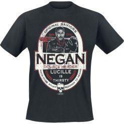 T-shirty męskie z nadrukiem: The Walking Dead Negan - Double Header T-Shirt czarny