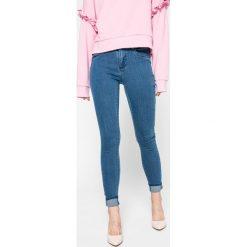 Only - Jeansy. Szare jeansy damskie rurki marki ONLY, s, z bawełny, casualowe, z okrągłym kołnierzem. W wyprzedaży za 69,90 zł.