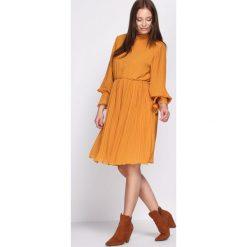 Sukienki: Żółta Sukienka Acquiescence