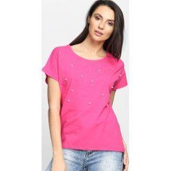 T-shirty damskie: Fuksjowa Bluzka Gravity