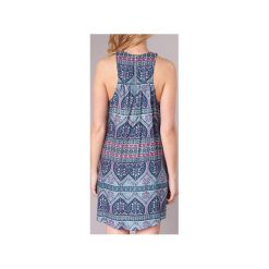 Sukienki krótkie Roxy  SWEET SEAS. Niebieskie sukienki mini marki Roxy, l, z krótkim rękawem. Za 207,20 zł.