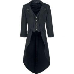 Banned Alternative Dovetail Coat Płaszcz czarny. Brązowe płaszcze na zamek męskie marki Cropp, na zimę, l, sportowe. Za 399,90 zł.