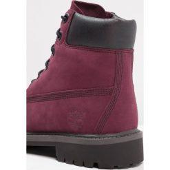 Timberland 6 IN PREMIUM WP BOOT Botki sznurowane port royale. Czerwone buty zimowe damskie marki Timberland, z materiału, na sznurówki. W wyprzedaży za 330,85 zł.