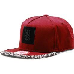 Czapka męska snapback bordowa (hx0282). Czerwone czapki z daszkiem męskie marki Dstreet, z aplikacjami, eleganckie. Za 69,99 zł.