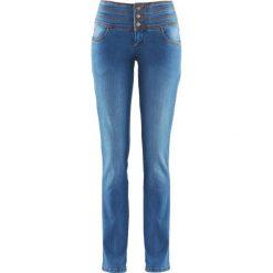 Dżinsy SHAPE bonprix niebieski. Niebieskie jeansy damskie bonprix, z podwyższonym stanem. Za 99,99 zł.