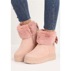 Buty zimowe damskie: Różowe Śniegowce Favoured