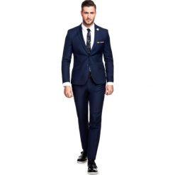 Garnitur LEONARDO GAGS000055. Niebieskie garnitury Giacomo Conti, z tkaniny. Za 599,00 zł.