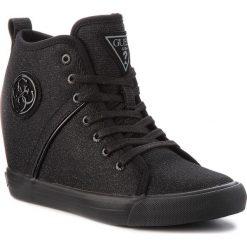Sneakersy GUESS - FLJLY3 FAM12 BLACK. Czarne sneakersy damskie Guess, z materiału. Za 529,00 zł.