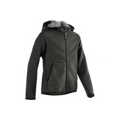 Bluza 500 Gym. Czarne bluzy chłopięce rozpinane DOMYOS, z kapturem. Za 64,99 zł.