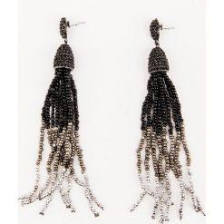 Kolczyki damskie: NA-KD Party Wiszące kolczyki z koralikami – Black,Multicolor