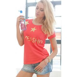 T-shirt. Pomarańczowe t-shirty damskie Fasardi. Za 19,00 zł.