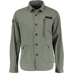 Koszule męskie na spinki: Shine Original MILITARY WITH BADGES Koszula army