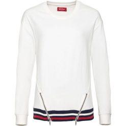 Bluza dresowa, długi rękaw bonprix biel wełny. Białe bluzy rozpinane damskie bonprix, z dresówki, z długim rękawem, długie. Za 89,99 zł.