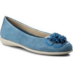Baleriny THE FLEXX - Miss Poke A103/38 Denim/ Bluette. Niebieskie baleriny damskie zamszowe The Flexx. W wyprzedaży za 189,00 zł.
